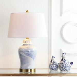 Wallace 26 in. H Ceramic Table Lamp, Blue/White by JONATHAN Y