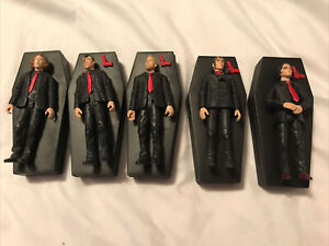 Set of 5 My Chemical Romance Rock Action Hero Figures 2005 SEG (4 guns)
