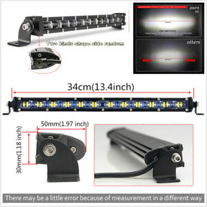 13.4inch LED Work Light Bar Flood Lights for Driving Lamp Offroad Car Truck SUV