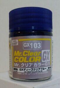 Gunze Sangyo Mr Clear color GX-103,  Deep Clear Blue 18ml.