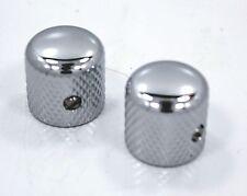 Chrome guitar knobs fits 6mm shaft Set screw 2 set