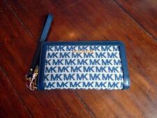 Michael Kors MK Navy Blue Ivory Voyager Bag &/or Matching Phone Wallet Wristlet
