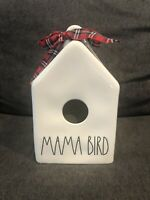 Rae Dunn MAMA BIRD Birdhouse NWT Red Plaid Ribbon Valentines Day Mothers Day LL
