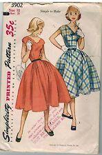 3902 Vintage Simplicity Sewing Pattern Teen Girls 1950's Dress Rockabilly Full