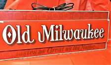 Old Milwaukee Lighted Beer Sign Tastes As Great As Its Name Vtg