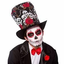 Day of the Dead TOP HAT Halloween Fancy Dress Mexican Dia De Los Muertos