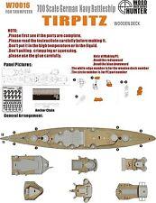 Hunter 1/700 W70016 Wood deck German Tirpitz for Trumpeter