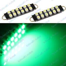 Green 43mm 211-2 212-2 21 12-SMD-3528 Rigid Loop LED Bulbs For Door Lights