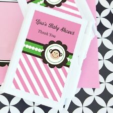 24 Personalized Pink Monkey Notebooks Baby Shower Favors
