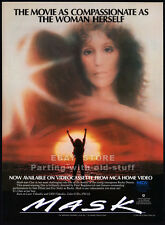 Mask_Original 1986 video Print Ad / movie promo_Cher_Eric Stoltz_Sam Elliott