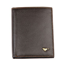 Men Cow Bifold Leather Wallet Bank Credit Card Septwolves Purse brown 313232-02