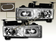 88-98 Chevy Full Size Pickup Tahoe Yukon Suburban  Headlights Halo Clear