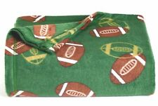 Green Football Anti-Pill Shimmer Fleece Throw Blanket 46x56 St Nicholas Sq Nwt