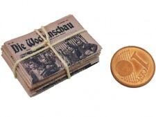 Bündel Stapel alte Zeitungen Miniatur Puppenhaus Zubehör Dekoration Puppenstube