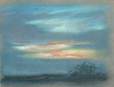 Impressionista Paesaggio disegno pastello Marcus Adams 1957