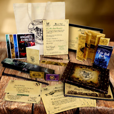 Personalised Harry Potter Gift Set Wand Quill Acceptance Letter & Marauders Map