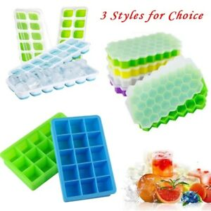 Silicone Ice Cube Tray Ice Jelly Maker Mould with Lid for Cocktail Party Summer