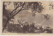 LAIGUEGLIA - PANORAMA DA PONENTE - AL RETRO FRASE DI D'ANNUNZIO (SAVONA) 1926