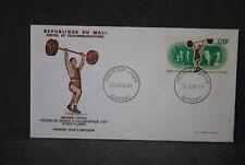 MALI Enveloppe 1er  jour 1969  PA Record du monde d'haltérophilie