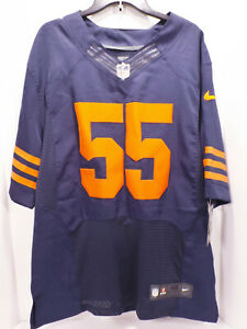 Official Nike NFL #55 Chicago Bears Lance Briggs Jersey Men Large ON Field