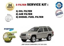 FOR JEEP GRAND CHEROKEE 2.7DT 2001-2004 SERVICE KIT OIL AIR FUEL 3 FILTER SET