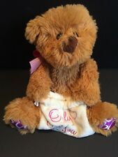 """Stuffed Teddy Bear 10"""" Brown Plush Soft Toy Valentines Day Baggie For Gift Love"""