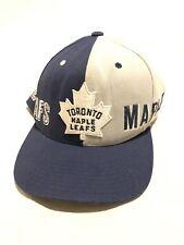 watch 36740 75458 Rare TORONTO MAPLE LEAFS NHL Mitchell   Ness Snapback Hat Vintage Style
