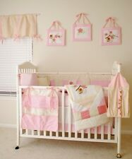 11 PCS-New Boutique Embroidered Baby Girl Flower&Bird Nursery Crib Bedding Set