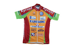 Maillot cyclisme vintage Nalini Kyriad Crédit Mutuel E.Leclerc