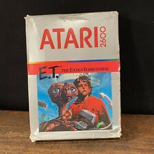 Vtg Atari 2600 E.T. The Extraterrestrial Game Box Instructions Factory Sealed