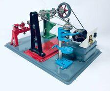 New ListingVintage Ahi Battery Operated Miniature Machine Shop Tin Toy Lathe Drill Japan