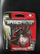 Spiderwire Stealth Braid 15 Lb 500 Yd Spool Moss Green Fishing Line