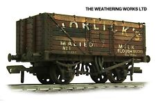 Bachmann 7 Plank BR ex PO Open Coal / Coke wagon + optional load *WEATHERED LOOK