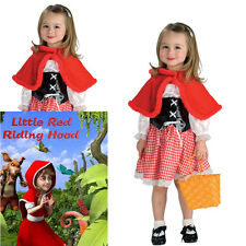 Little Red Riding Hood Costume Child Girl Book Week Fairy Tale Small 3-4 yrs
