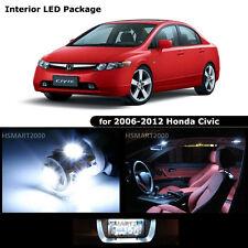 6PCS Cool White LED Bulbs Interior Kit for 2009 Honda Civic Coupe Sedan