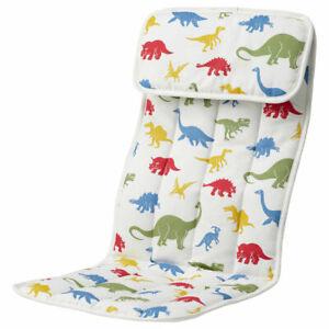 IKEA POÄNG Children's Armchair Soft Cushion Comfortable Dinosaur Pattern Printed