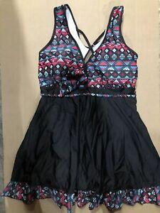 Cocopear NEW Black Womens Size 3xl Underlayer Swimdress Swimwear