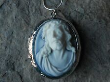 JESUS CROWN OF THORNS CAMEO LOCKET -  RELIGIOUS, GOD, CHRISTMAS, EASTER