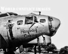 WW2 B-17 Bomber Haybag Annie #1 8x10 Nose Art Photo 385th BG ETO USAAF