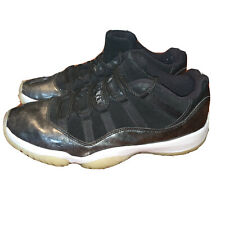 Air Jordan 11 Retro Low Barons Black White Men 528895 010 Used Size 10 Nike