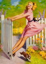 Art Frahm Pin Up Girls 9 Giclee Canvas Print Paintings Poster Reproduction