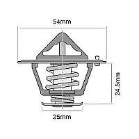 TRIDON THERMOSTAT FOR FIAT (Tractors) 500, 500DT, 500S - 505C, 505C, Super (2