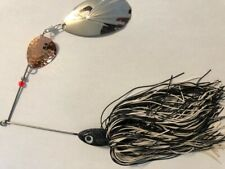 "Spinnerbait Black and white  8"" x 6"""