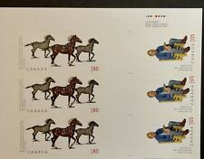 Canada Stamps Gutter Product Low Mintage Horse sculptures