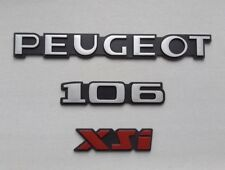 NEUF KIT 3 MONOGRAMMES PEUGEOT 106 XSi PHASE 2 LOGOS REPRODUCTION CONFORME NEW