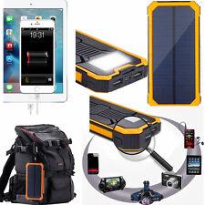 100000mAh Solar Power Bank Portable Waterproof USB Charger For Phone Camera Lamp