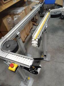 "*NICE* lot of (2) DORNER (2200 Series) 3.5"" wide x ?? 90 degree Conveyors"