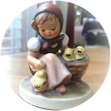 Chick Girl Hummel With Birds Goebel Figurine # 57/0 W.Germany