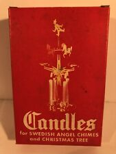 "Vintage Box of 12 White 4"" Candles for Swedish Angel Chimes & Christmas Trees FS"