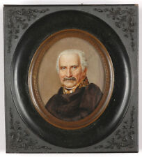"""Portrait of Gebhard Leberecht von Bluecher"", German miniature on o.w., 19th C."